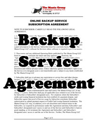 Backup Services Agreement thumbnail